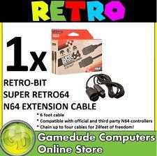 Retro-bit Super Retro64 N64 Extension Cable 6FT MODEL : RB-N64-0479 [F03]