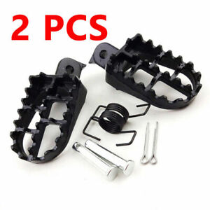 Pair of Wide Motorcycle Foot Peg Footrest 8mm Bolt Fit for Honda Kawasaki Yamaha