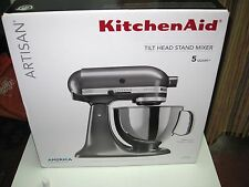 New KitchenAid KSM150PSQG Artisan 5-Quart 10 Speed Stand Mixer Liquid Graphite