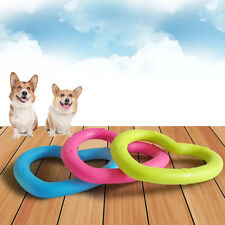 2Pcs Pet Dog Toy Rubber Heart Dental Teething Healthy Teeth Gums Chew Bit