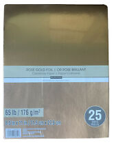 "Recollections Cardstock Paper Rose Gold Foil 8 1/2"" x 11"" 25 Sheets 65 pound"
