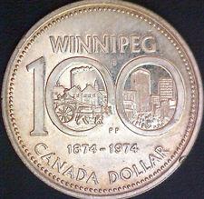 1974 - Canada (Winnipeg) Silver Dollar #2 - Free S/H