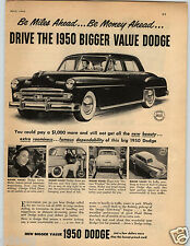 1950 PAPER AD Car Auto Dodge Full Size Doors GyroMatic Transmission Get-Away
