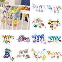 Baby Crib Cot Pram Hanging Rattles Spiral Stroller Car Seat Pushchair Toy Bell
