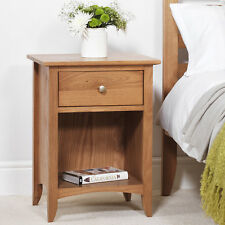 Edward Hopper OAK 1 drawer bedside table, Quality Oak bedside cabinet,ASSEMBLED