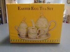 Beautiful Easter Egg Tea Set New in Box Miniature