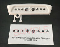 1940 WILLYS PICKUP COCA-COLA GASSER GAUGE FACES for 1/25 scale AMT KITS