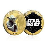 Star Wars Gifts Limited Edition Collectable Yoda Gold Plated Coin Medal