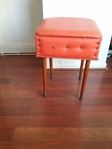Vintage Retro Sewing Box On Dansette Legs