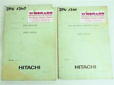 Hitachi EX40 Excavator and Equipment Parts List Ersatzteilliste in engl.