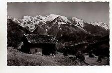 CPA 74 PLATEAU D'ASSY chalets a plaine joux et le mont blanc
