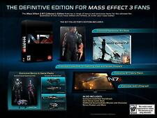 MASS EFFECT 3 N7 COLLECTOR'S EDITION MINT CONDITION PS3