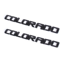 2Pcs Chevrolet COLORADO Letters LH&RH Door Emblem for Z71 ZR2 LT WT Glossy Black