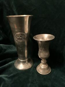 Norway Antique Sports Skiing PRIZE Silverplate GOBLET Trophy Plus Sabbath Cup