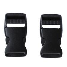 "1"" Spare Parts Belt Connecting Black Plastic Quick Release Buckle 2 Pcs SS"
