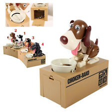 Choken Bako Mechanical Robot Robotic Eating Dog Coin Money Bank Saving Box Cute