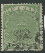 Fiji SG32a 1877 2d on 3d deep yellow green Used