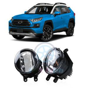 For Toyota RAV4 19-2021 OEM LED Driving Light Bumper Fog Lamp Housing Lamp 2Pcs