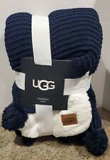 "UGG ""ANDERSON"" Navy Blue Throw"