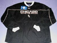 Chicago White Sox Lead Off Pullover Jacket Large Blowout NWT MLB Black