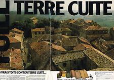 PUBLICITE ADVERTISING 054  1980  GROUPEMENT DE LA TERRE CUITE   tuiles  ( 2 pag