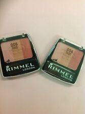 2 X Rimmel Lasting Finish Powder Blush & Highlighter #006 Autumn Catwalk New.