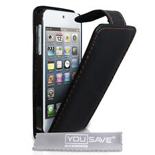 ACCESSORI per APPLE IPOD TOUCH 5 5G PU pelle nero flip case cover 5A GEN.