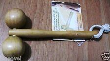Wooden Hand Held Massager Twin  Rolling balls Massager