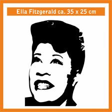 ELLA FITZGERALD Wandtatoo, ca. 35 x 25 cm, Hochleistungsfolie mit Montagepapier