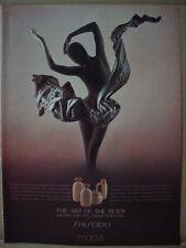 1985 Macy's Store Shiseido Body Care Ballerina Statue Vintage Print Ad 149