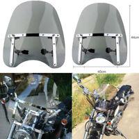 Motorcycle Windshield Windscreen 7/8'' 1'' Universal for Harley Sportster Dyna