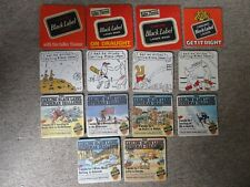 Beer mats coaster drip CARLING brewery BLACK LABEL superman challenge sets lot