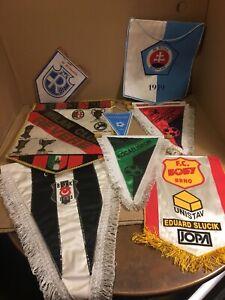 Lot Of 9 Soccer Football Flag Banners Milan Brno Bratislava Turkey BJK