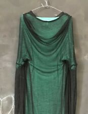 black Ann Demeulemeester Dress slit sleeve Slits Long Sleeves Mesh NWT sex cover