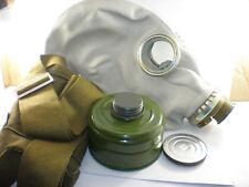Size - 2. Medium Soviet Russian Military Gas mask GP-5. Grey rubber. Full set