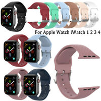 Sport Soft Silicone Band Strap Bracelet for Apple Watch iWatch 1 2 3 4 38mm/42mm
