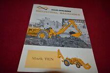 Allis Chalmers Mark Ten Industrial Backhoe Dealers Brochure YABE11