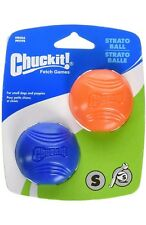 Chuckit 2 pcs Ball Small TOUGH CHEWER Strato Natural Rubber Thrower Launcher New