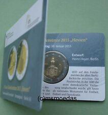 Deutschland 2 Euro Gedenkmünze 2015 Hessen Berlin A Coin-Card commemorative BU