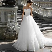 New White/ivory Wedding dress Bridal Gown custom size 4- 6-8-10-12-14-16 18+++
