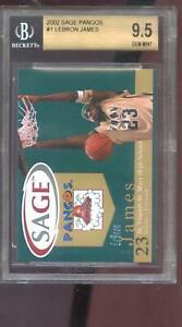 2002-2003 Sage Pangos Lebron James #1 BGS 9.5 Graded Rookie Card