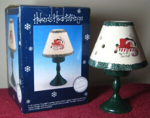 """Vtg 7"""" Holiday Ceramic Tealight Votive Candle Holder Sweet Dreams Crazy Mountain"""