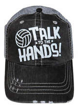 Volleyball Talk to the Hands   Hat/distressed/trucker
