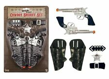 COWBOY SET 7Pcs Plastic Gun Holster  Toy Fancy Dress Ranger Sheriff Wild West UK