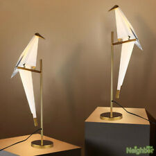 Nordic LED origami table lamp papercrane desk light bedside Bird Lights decor
