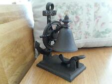 Nautical Ship Wheel Anchor Cast Iron Dinner Bell Table Bell Rustic Brown OY16041