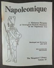 NAPOLEONIQUE  NAPOLEONIC DER KRIEGSPIELER THE WARGAMERS' LIBRARY CATALOG BOOK