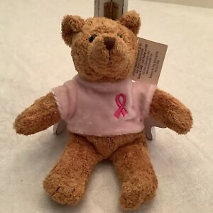 Avon Breast Cancer Bear Pink Shirt Brown Bear