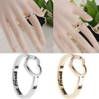 Girl Hollow Heart Best Friend Knuckle Midi Mid Finger Band Tip Stacking Ring