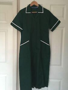 Boyd Cooper Women Nurse Carer Vet Medical Healthcare Green White Trim dress UK12